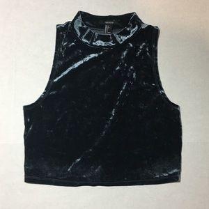 Forever 21 | Velvet sleeveless crop | sz L